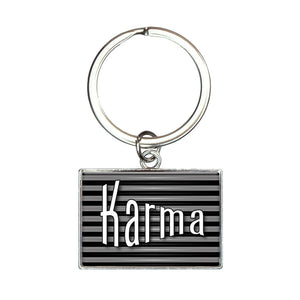 Karma Your Fate and Destiny Rectangle Keychain Key Ring