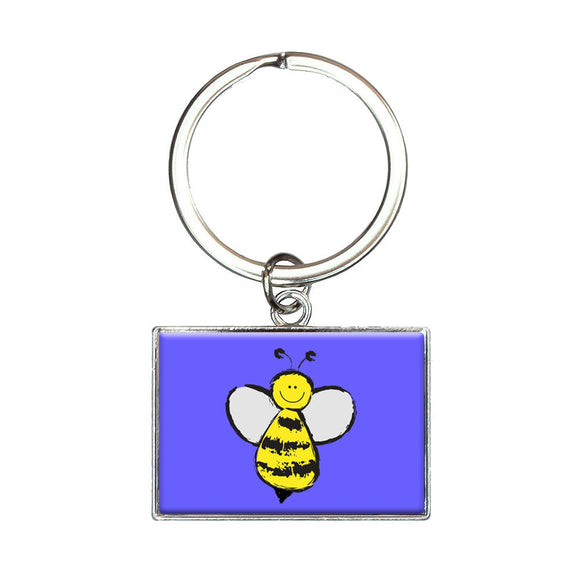 Busy As A Bee Rectangle Keychain Key Ring