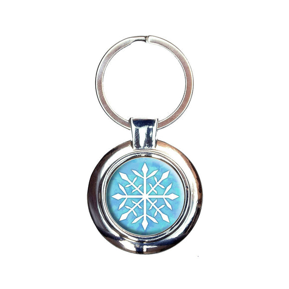 Snowflake Keychain Key Ring