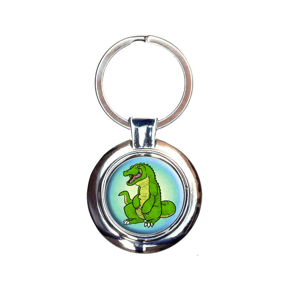 Happy Alligator Keychain Key Ring