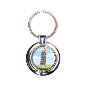 Italy Leaning Tower of Pisa Keychain Key Ring