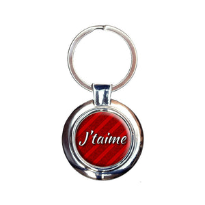 J'taime I Love You in French Keychain Key Ring
