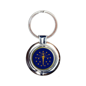 Indiana State Flag Keychain Key Ring