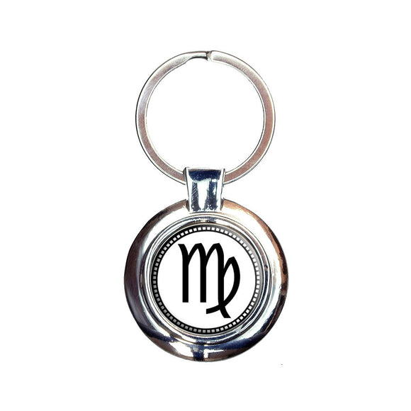 Zodiac Sign Virgo Keychain Key Ring