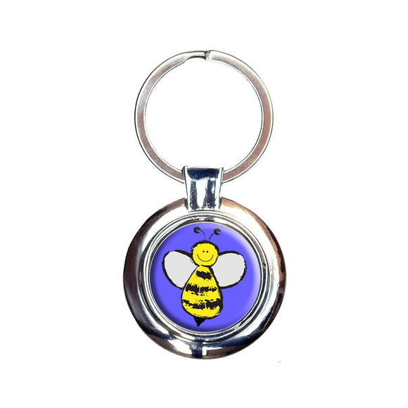 Busy As A Bee Keychain Key Ring