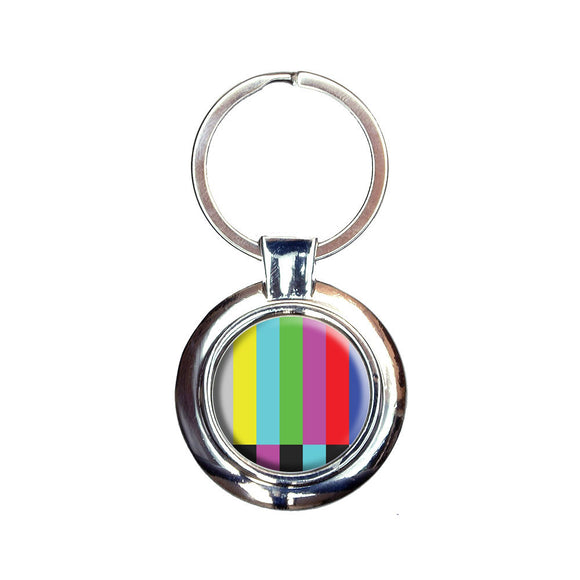 Test Television Color Bars Keychain Key Ring