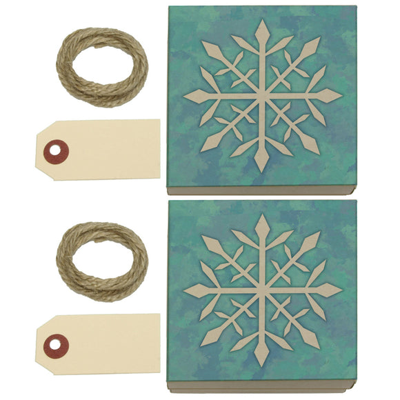 Snowflake Kraft Gift Boxes Set of 2