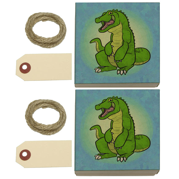 Happy Alligator Kraft Gift Boxes Set of 2