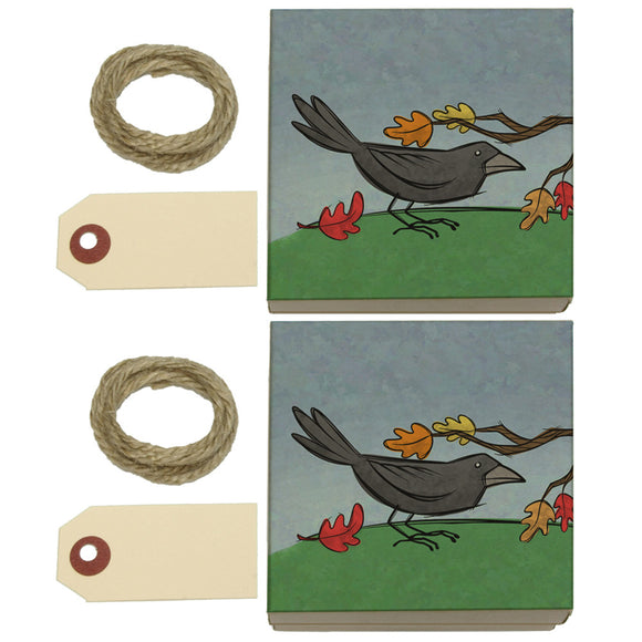 Crow in Autumn Kraft Gift Boxes Set of 2