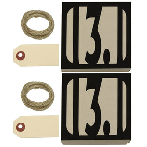 13.1 Miles Half Marathon Black Kraft Gift Boxes Set of 2