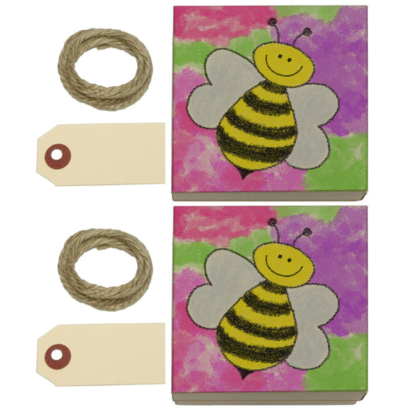 Busy As A Bee Watercolor Kraft Gift Boxes Set of 2