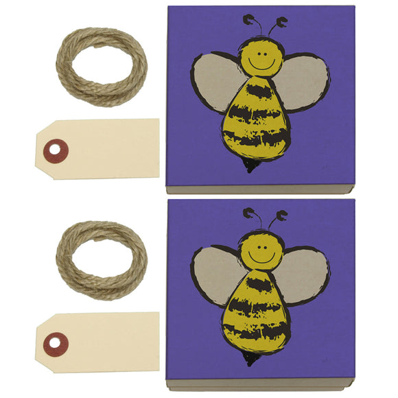 Busy As A Bee Kraft Gift Boxes Set of 2
