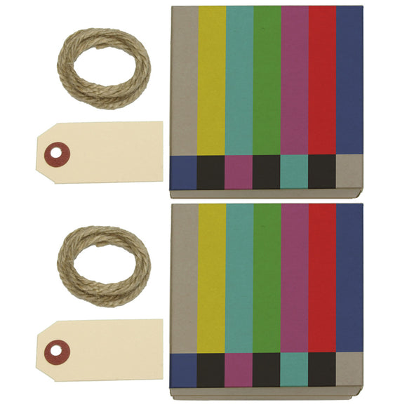 Test Television Color Bars Kraft Gift Boxes Set of 2