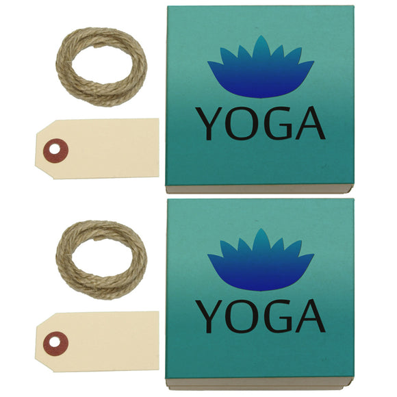 Yoga Lotus Flower Kraft Gift Boxes Set of 2
