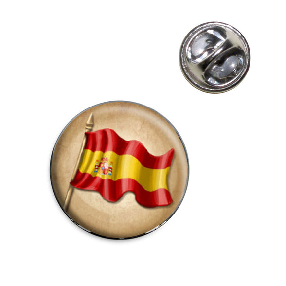 Vintage Spanish Flag Spain Lapel Hat Tie Pin Tack