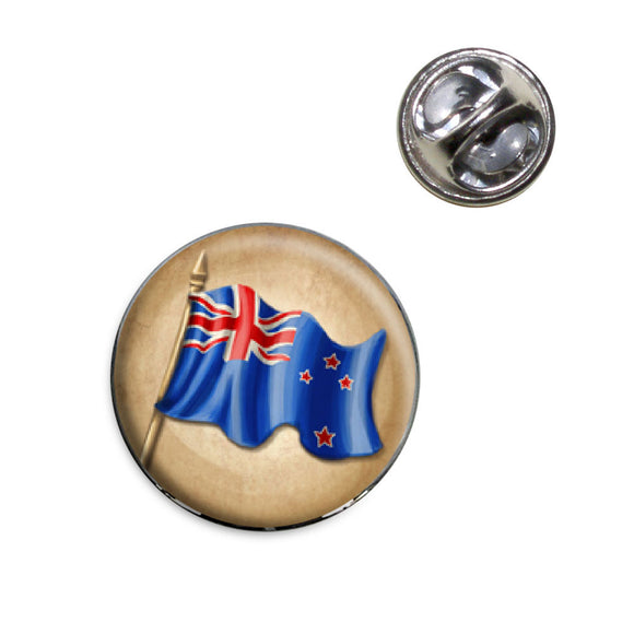 Vintage New Zealand Flag Lapel Hat Tie Pin Tack