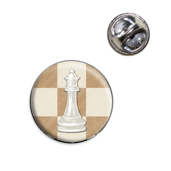 White Queen Chess Set Lapel Hat Tie Pin Tack