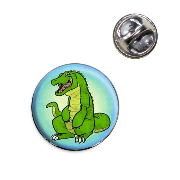 Happy Alligator Lapel Hat Tie Pin Tack