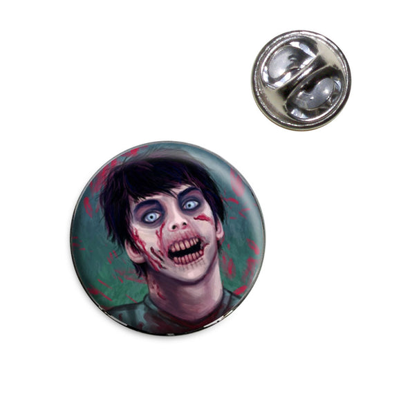 Zombified Boy Lapel Hat Tie Pin Tack