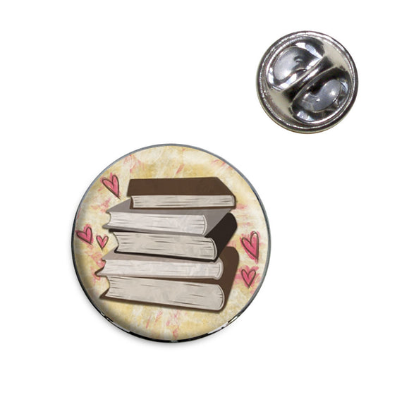 Stack of Books Lapel Hat Tie Pin Tack