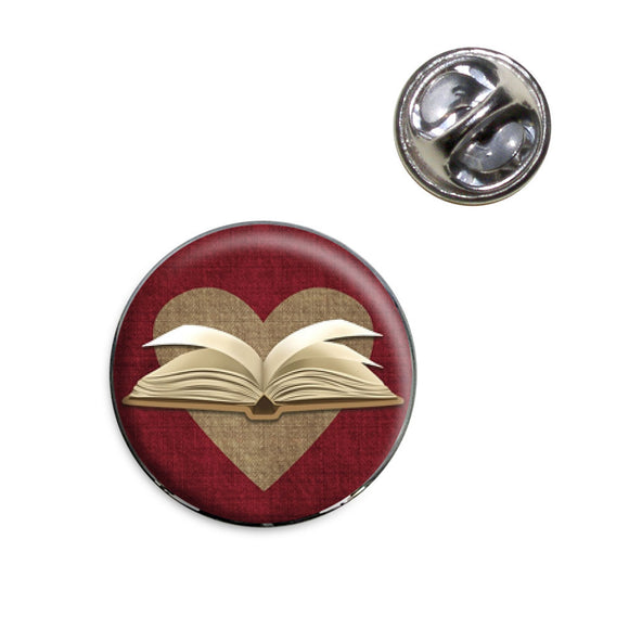 Open Up a Book Lapel Hat Tie Pin Tack