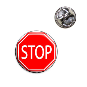Stop Sign Basic Red Lapel Hat Tie Pin Tack