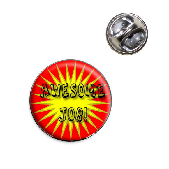 Awesome Job Lapel Hat Tie Pin Tack
