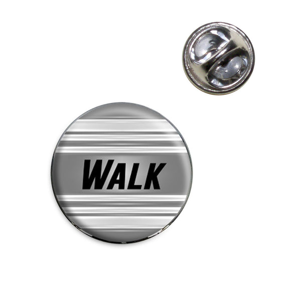 Walk Keeping Fit at My Pace Lapel Hat Tie Pin Tack