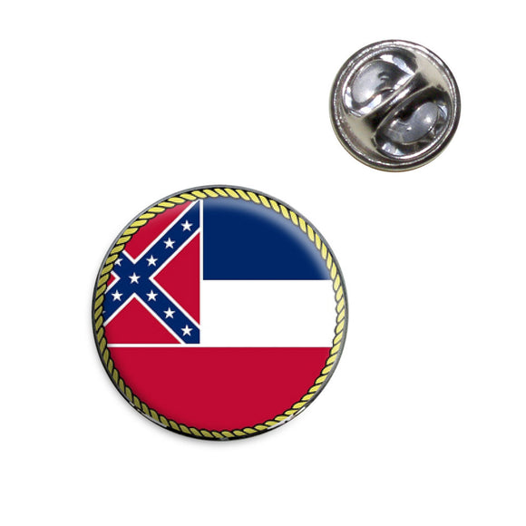 Mississippi State Flag Lapel Hat Tie Pin Tack