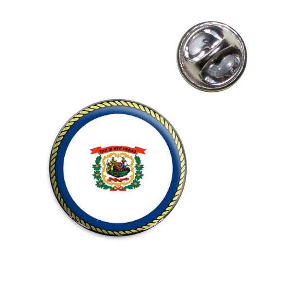 West Virginia State Flag Lapel Hat Tie Pin Tack
