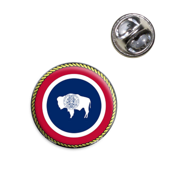 Wyoming State Flag Lapel Hat Tie Pin Tack