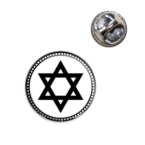 Star of David Lapel Hat Tie Pin Tack