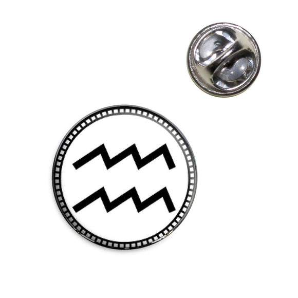 Zodiac Sign Aquarius Lapel Hat Tie Pin Tack