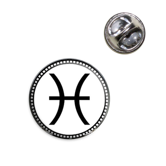 Zodiac Sign Pisces Lapel Hat Tie Pin Tack