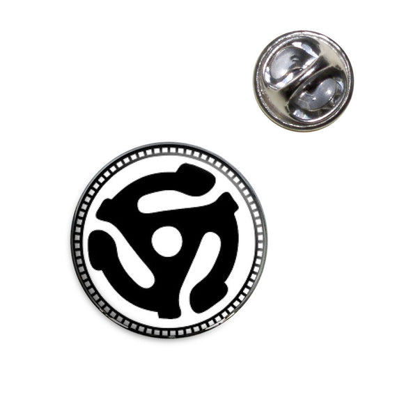 45 Adapter Music Record Lapel Hat Tie Pin Tack