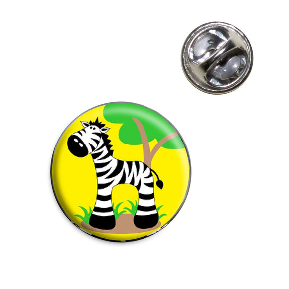 Zebra And Tree Cute Lapel Hat Tie Pin Tack