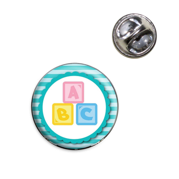 Baby Blocks Lapel Hat Tie Pin Tack