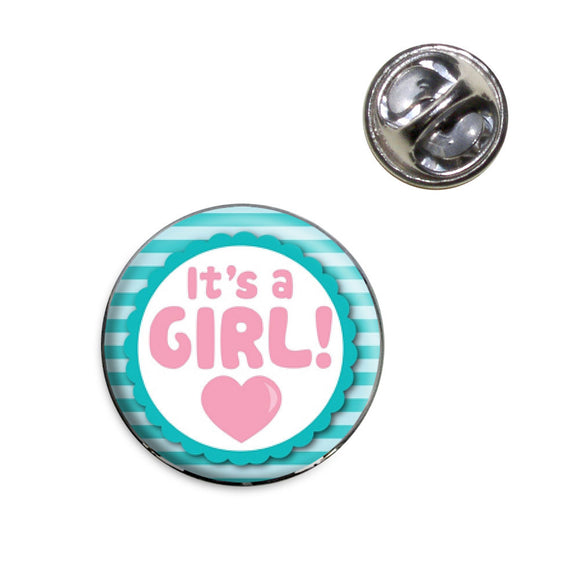 It's A Girl Baby Lapel Hat Tie Pin Tack