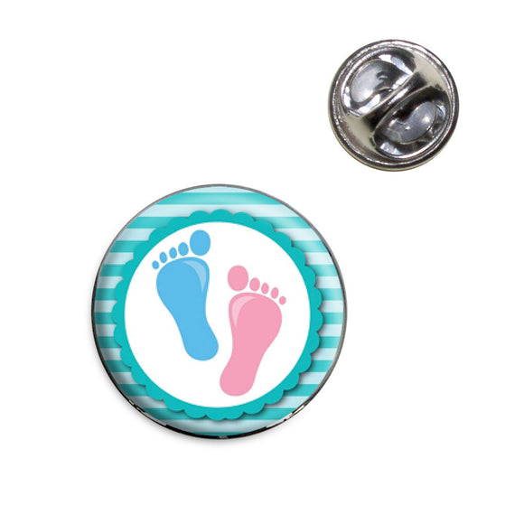 Baby Footprints Feet Lapel Hat Tie Pin Tack