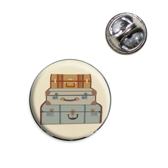 Vintage Luggage Suitcase Travel Lapel Hat Tie Pin Tack