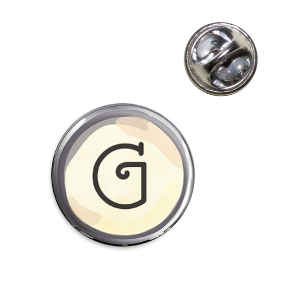 Letter G Typewriter Key Lapel Hat Tie Pin Tack