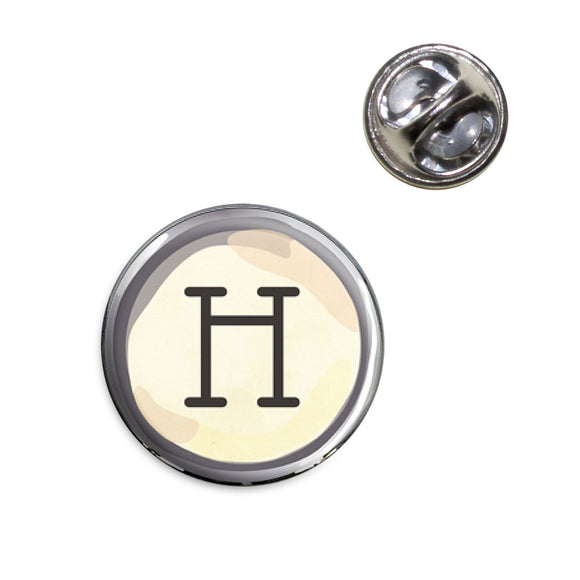 Letter H Typewriter Key Lapel Hat Tie Pin Tack