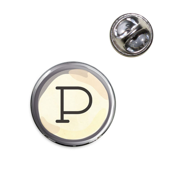 Letter P Typewriter Key Lapel Hat Tie Pin Tack