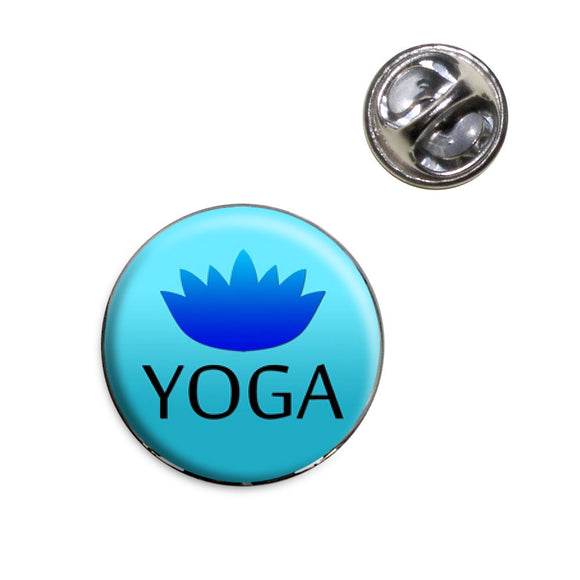 Yoga Lotus Flower Lapel Hat Tie Pin Tack