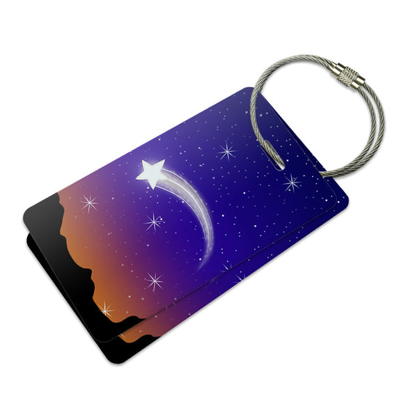 Wishing on a Shooting Star Suitcase Bag ID Luggage Tag Set