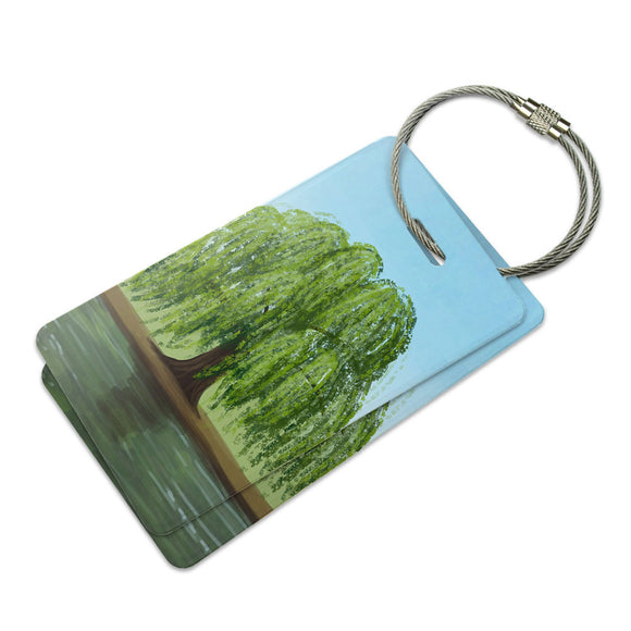 Weeping Willow Suitcase Bag ID Luggage Tag Set