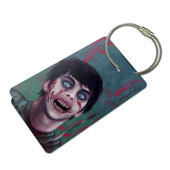 Zombified Boy Suitcase Bag ID Luggage Tag Set