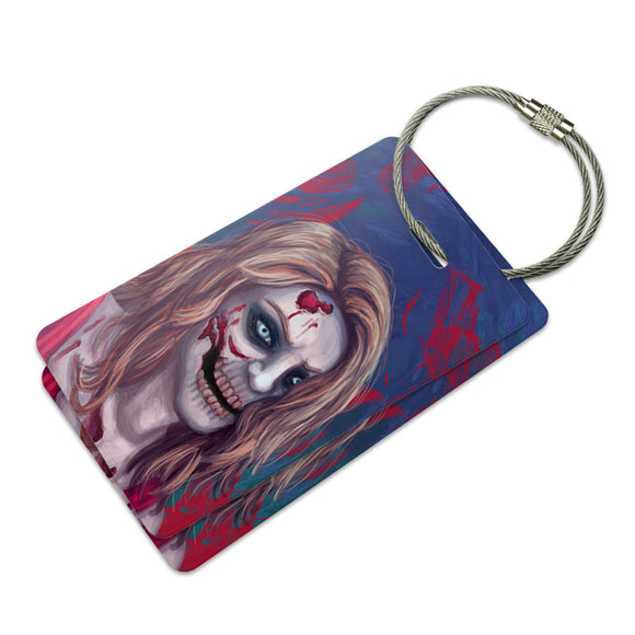 Zombified Girl Suitcase Bag ID Luggage Tag Set