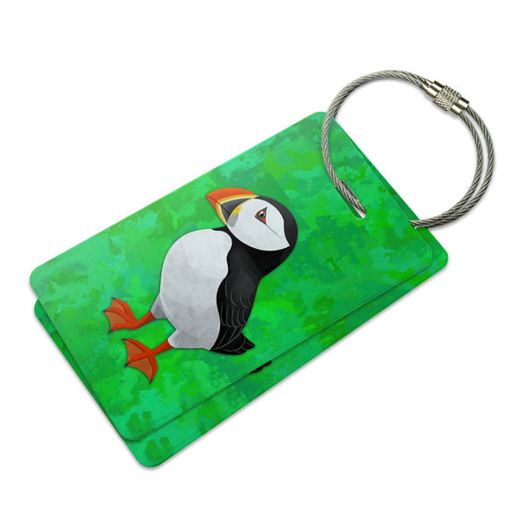 Puffin Suitcase Bag ID Luggage Tag Set