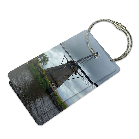 Windmill Holland Suitcase Bag ID Luggage Tag Set